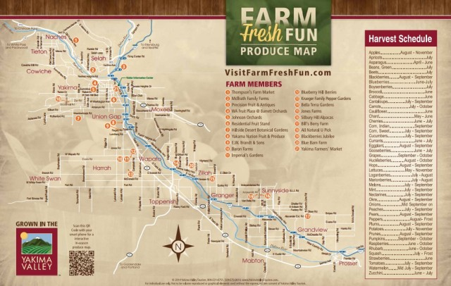 Yakima Fruit Map