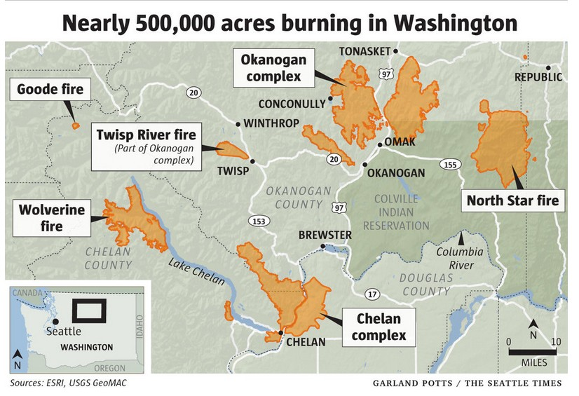 Washington Wildfires Rage Obama Declares State Of Emergency Our