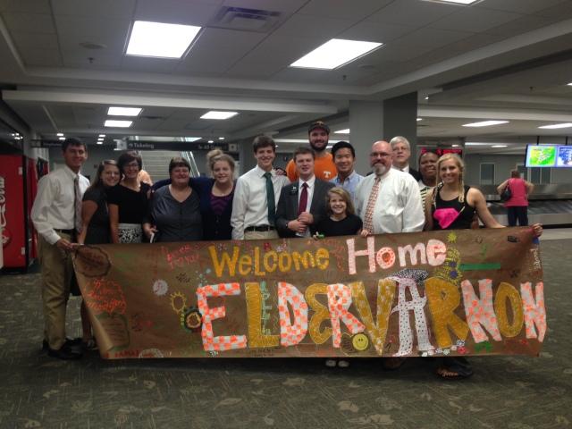 2015-8-29 Elder Varnon arrives home