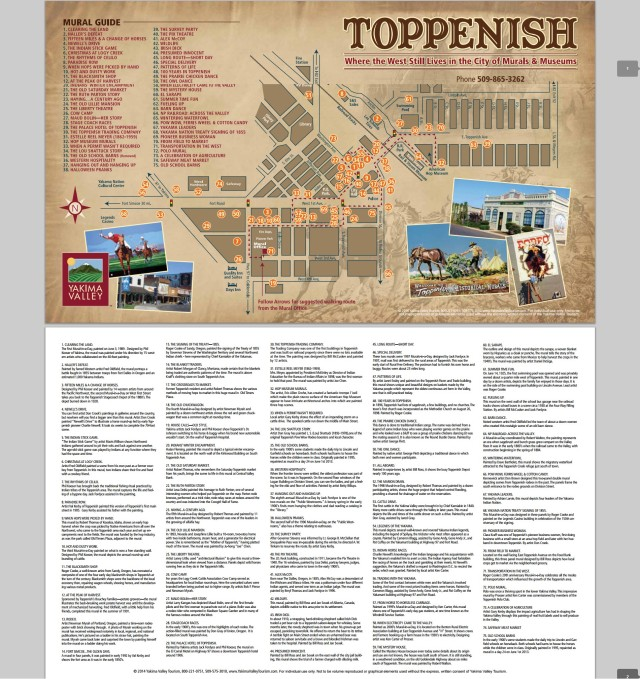Toppenish Murals Map
