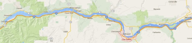 Map The Dalles