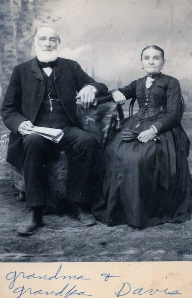 Davis Elisha Hildebrand and Mary Ann portrait