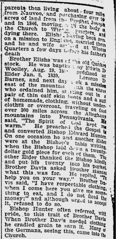 Davis, Elisha obit 9 Aug 1898 DN 2