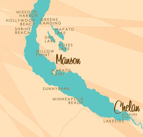 Chelan - Manson map