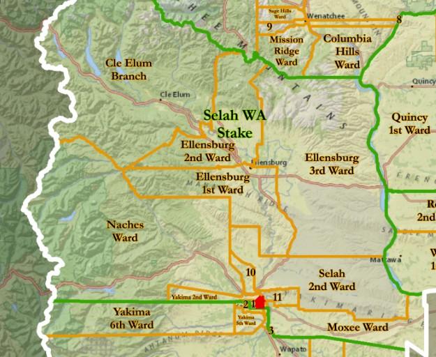 Map Selah Stake
