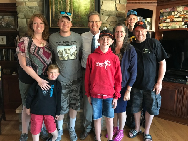 2018-6-14 Visit from Painter Family (1)